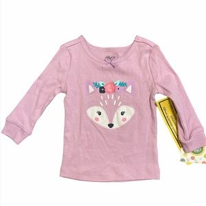 NEW Little Me Fox Pajama Top SIZE 12 Months